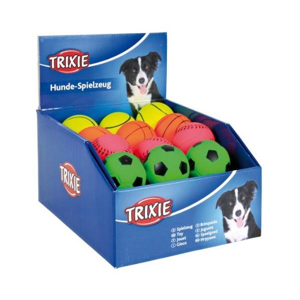 Trixie Foam Rubber Toys - Set of Toy Ball guma-neon