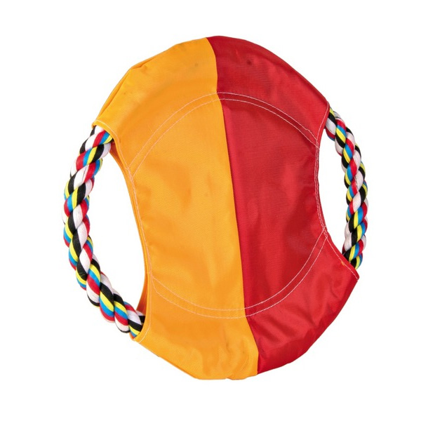 Trixie Dog Disc - Nylon Dog Disc with Rope
