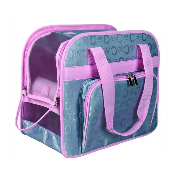 Trixie Friends on Tour Bags - Alisha Bag, srebrnosivo/roze