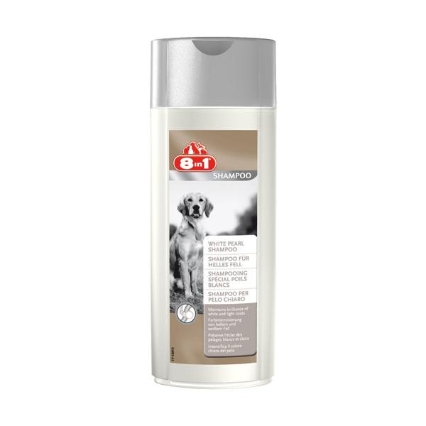 8 in1 White Pearl, šampon za pse