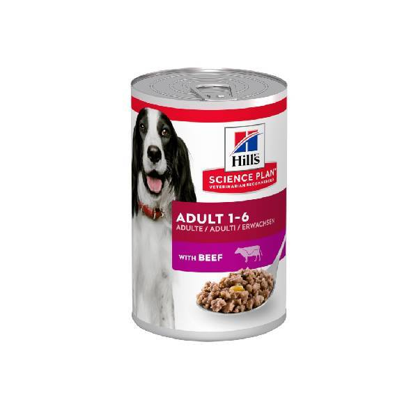 Hills Canine adult beef 6x370gr