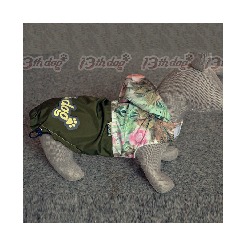 13th Dog Šuškavac za pse zeleni sa cvetovima