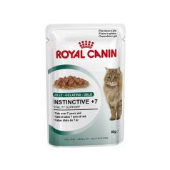 Royal Canin Instinctive + 7 in jelly vlažna hrana za mačke starije od 7 god. 12 kom x 85 gr - Apetit shop