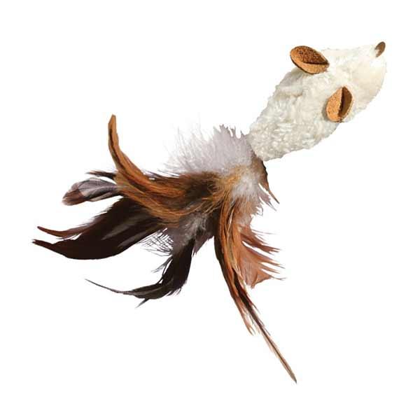 Kong Cat Refillable Catnip Feather Mouse, igračka za mačku