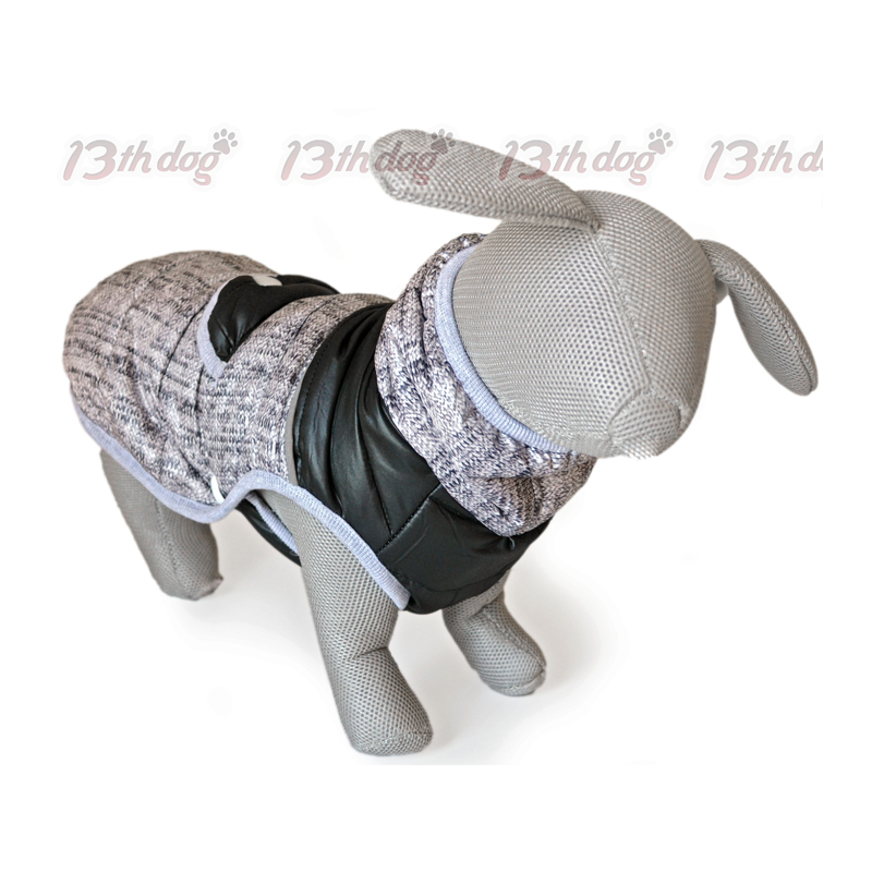 13th Dog Jakna za pse crno-siva