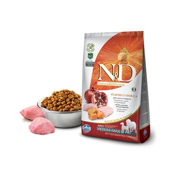 Farmina N&D Pumpkin Medium&Maxi Adult Chicken&Pomegranate