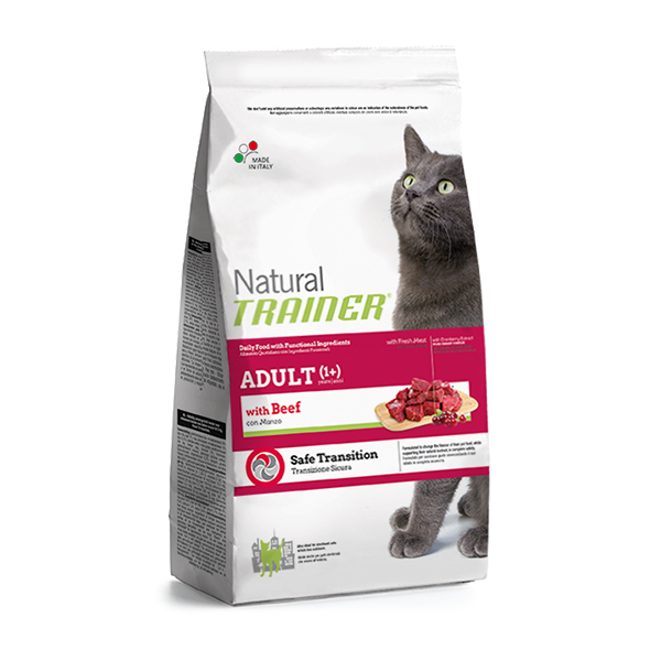 Trainer Natural Adult Cat with beef hrana za odrasle mačke, govedina