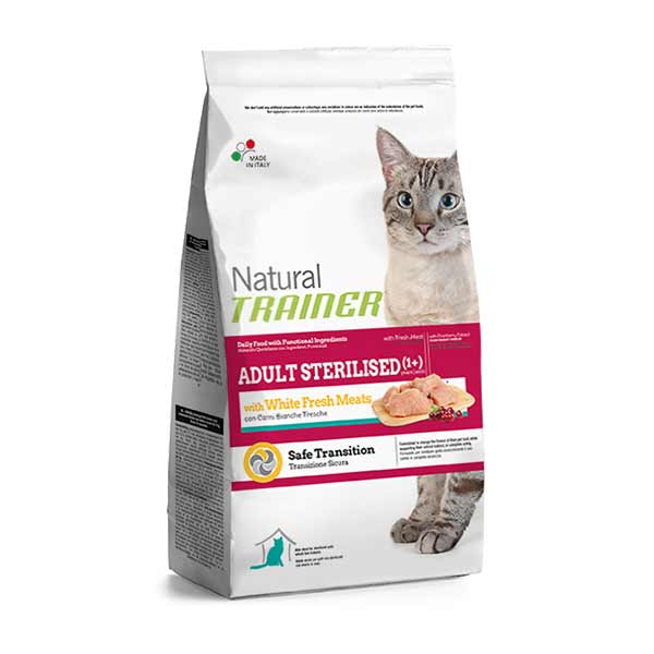 Trainer Natural Adult Sterilised Cat with white meats hrana za odrasle sterilisane mačke