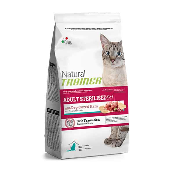 Trainer Natural Adult Sterilised Cat with dry-cured ham hrana za odrasle sterilisane mačke, sa šunkom