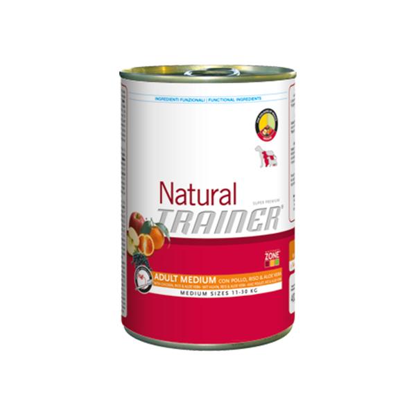 Trainer Natural Adult Medium Polo, Riso e Aloe Vera vlažna hrana za odrasle pse srednjih rasa, piletina, pirinač i aloe vera
