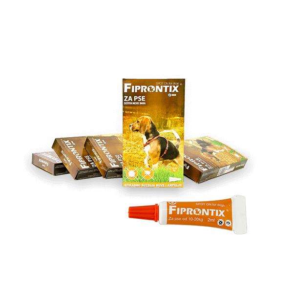 Fiprontix Spot-On preparat za zastitu od parazita za pse srednjih rasa težine od 10kg-20kg