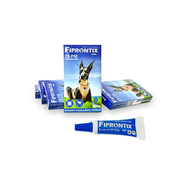 Fiprontix Spot-On preparat za zastitu od parazita za pse velikih rasa težine od 20kg-40kg
