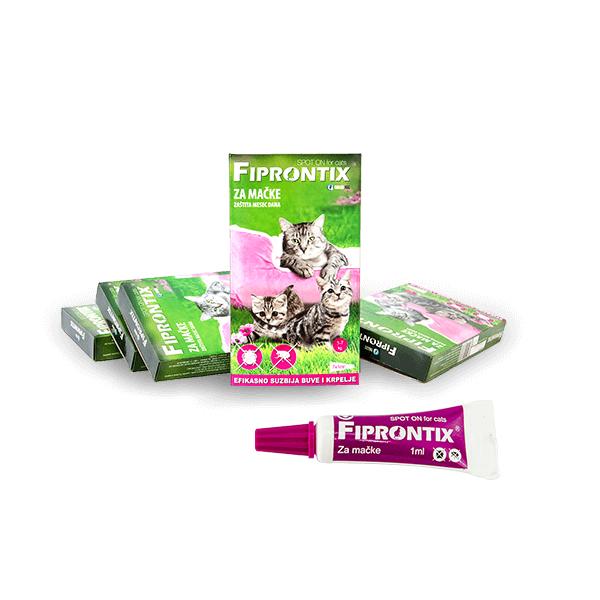 Fiprontix Spot-On preparat za zastitu od parazita za mačke