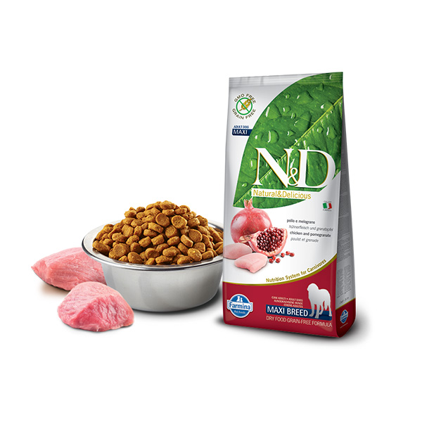 Farmina N&D low grain maxi adult chicken and pomegranate | Apetit shop - Online prodaja hrane i opreme za kućne ljubimce