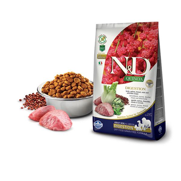 Farmina N&D Grain Free Quinoa Digestion Lamb, Fennel, Mint & Artichoke