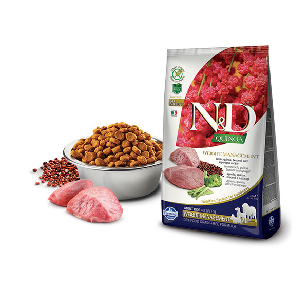 Farmina N&D Grain Free Quinoa Weight Management Lamb, Broccoli & Asparagus