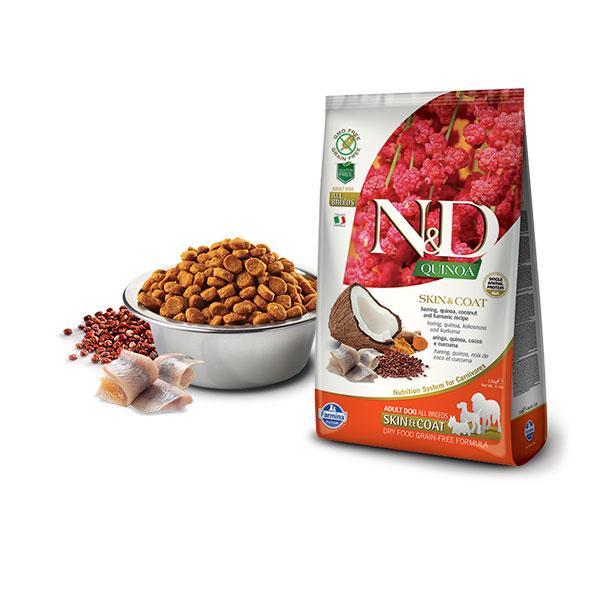 Farmina N&D Grain Free Quinoa Skin&Coat Herring, Coconut & Curcuma