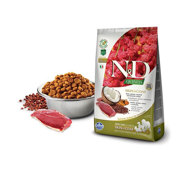 Farmina N&D Grain Free Quinoa Skin&Coat Duck, Coconut & Curcuma