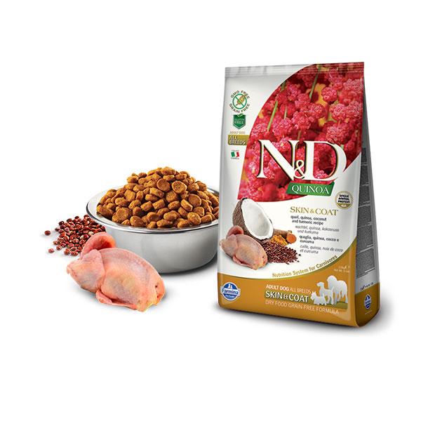 Farmina N&D Grain Free Quinoa Skin&Coat Quail, Coconut & Curcuma