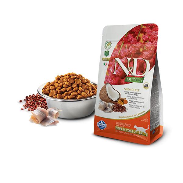 Farmina N&D Grain Free Quinoa Cat Skin&Coat Herring, Cocunut & Curcuma