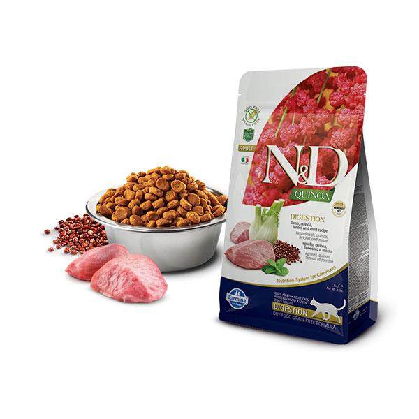 Farmina N&D Grain Free Quinoa Cat Digestion Lamb, Fennel & Mint