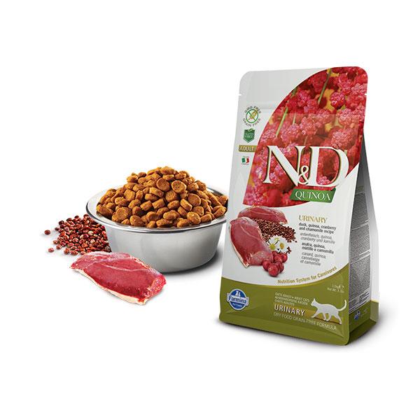 Farmina N&D Grain Free Quinoa Cat Urinary Duck, Cranberry & Chamomille