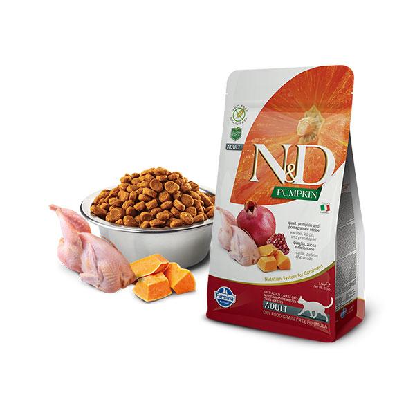 Farmina N&D Grain Free Pumpkin Cat Quail&Pomegranate