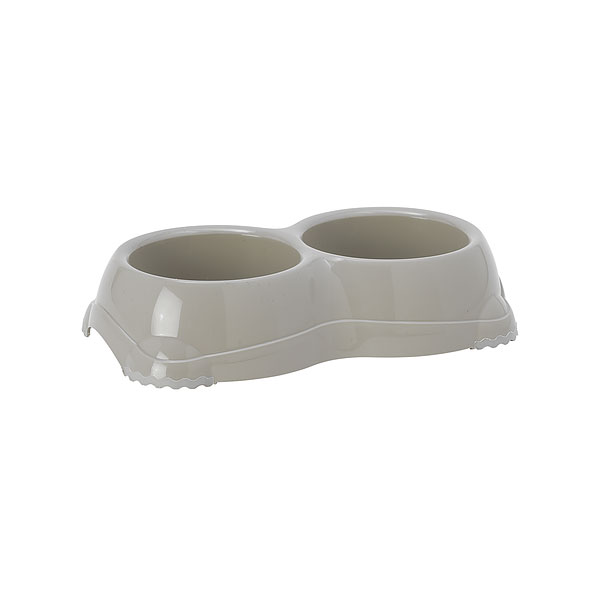 Moderna Double Smarty Bowls, siva, činija za mace