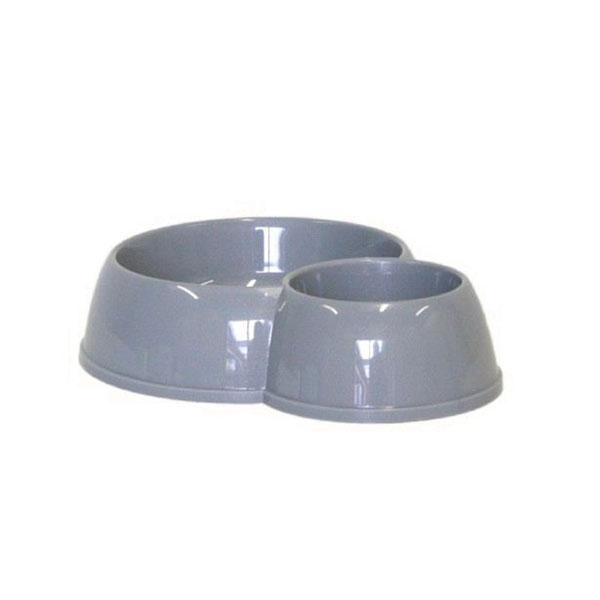 Moderna Double Eco Bowl Cat činija za macke siva