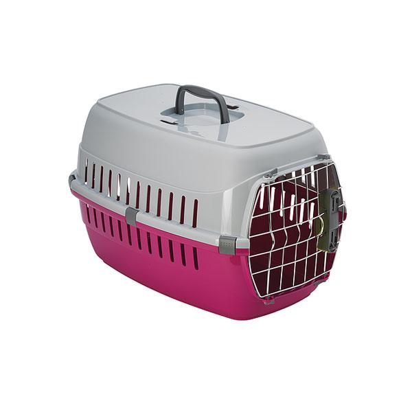 Moderna Road Runner spring lock door, pink transporter za macke i male pse