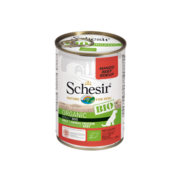 Schesir Dog BIO Organic konzervirana hrana za pse, govedina