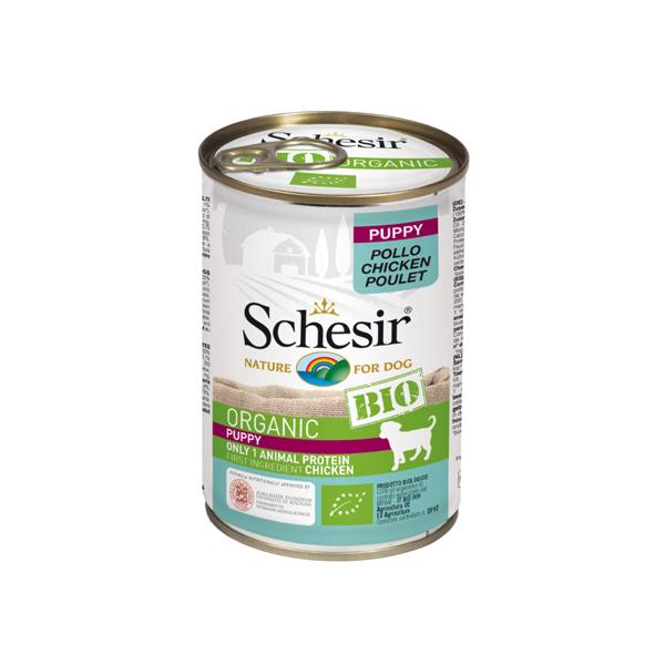 Schesir Dog BIO Organic Puppy konzervirana hrana za štence, piletina