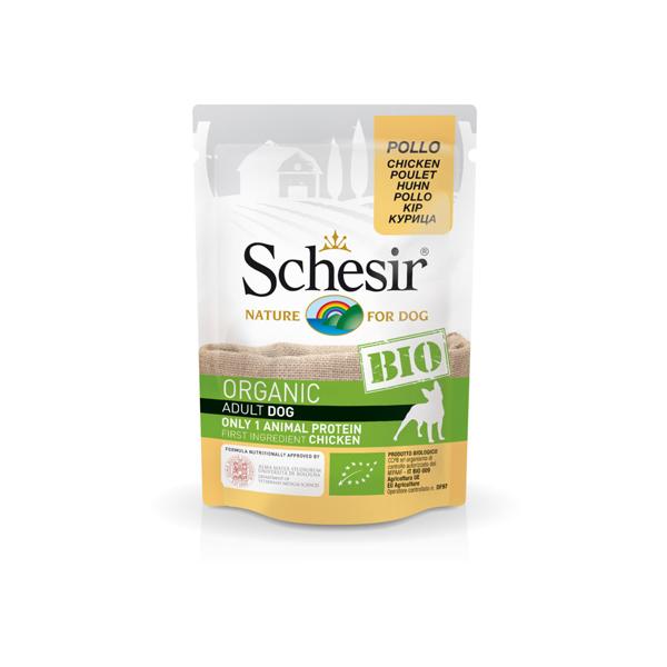 Schesir Dog Bio piletina bio-organic pašteta za pse
