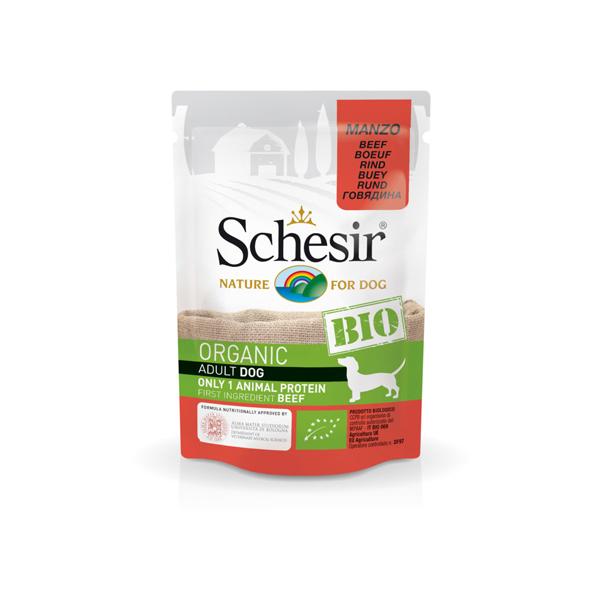 Schesir Dog Bio govedina bio-organic pašteta za pse