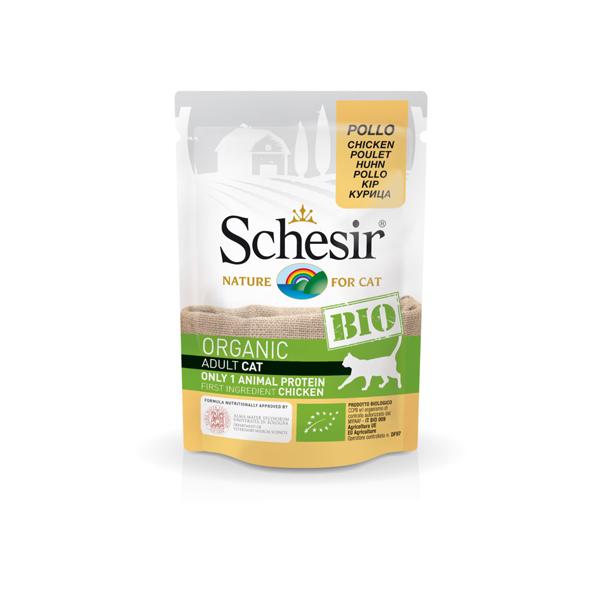 Schesir Cat Bio organic preliv za mačke, piletina
