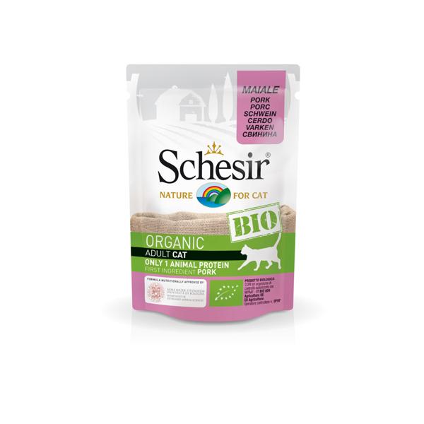 Schesir Cat Bio organic preliv za mačke, svinjetina
