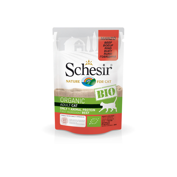 Schesir Cat Bio organic preliv za mačke, govedina