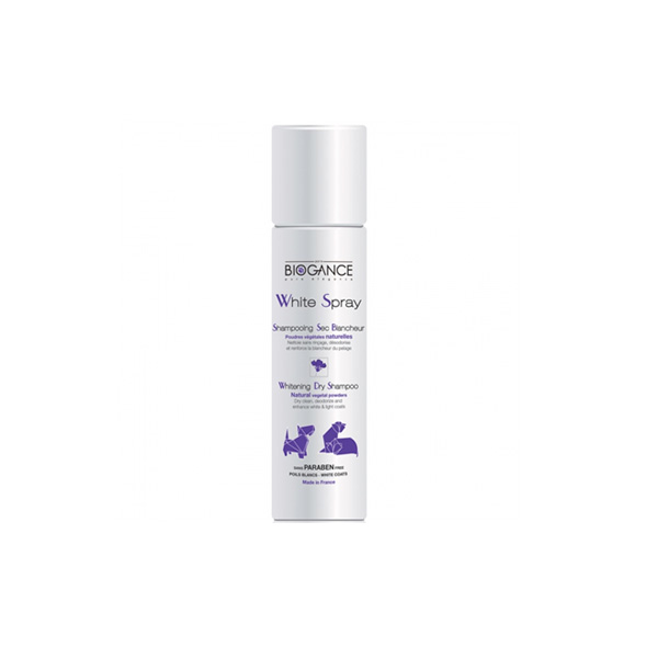 Biogance White spray šampon za suvo pranje bele dlake pasa i mačaka