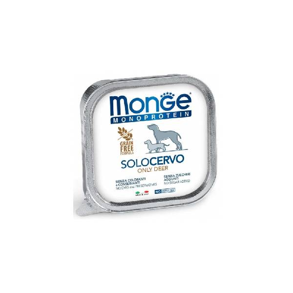 Monge Dog Solo Deer, pašteta za pse sa ukusom divljači | Apetit shop - Online prodaja hrane i opreme za kućne ljubimce