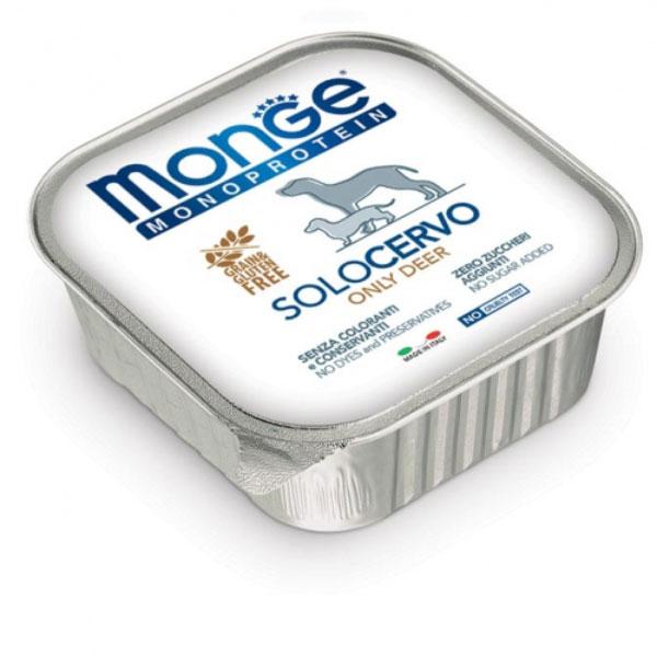 Monge Dog Solo Pasteta za pse, jelen | Apetit shop - Online prodaja hrane i opreme za kućne ljubimce