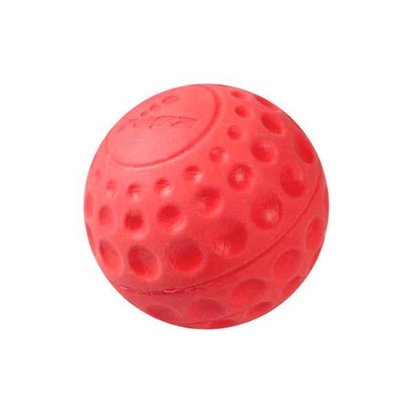 Rogz igračke za pse, loptica Eva crvena