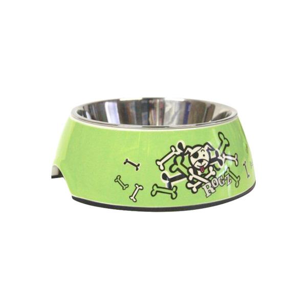 Rogz činija za pse, zelena sa kostima