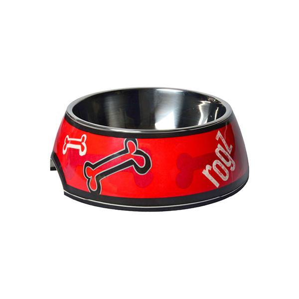 Rogz činija za pse, crvena sa koskama