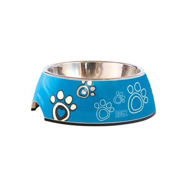 Rogz činija za pse, plava sa šapama