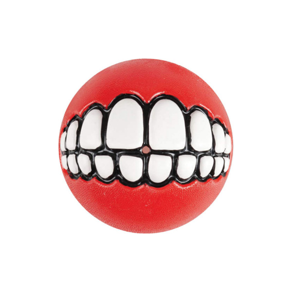Rogz Grinz Ball Red, Loptica za pse