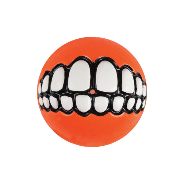 Rogz Grinz Ball Orange, Loptica za pse
