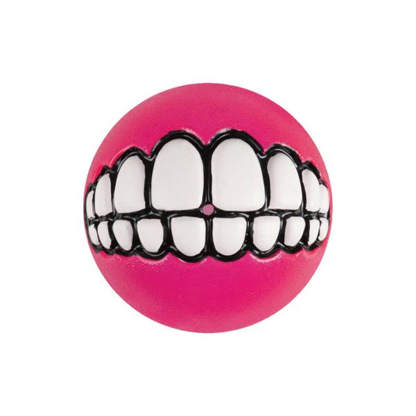 Rogz Grinz Ball Pink, Loptica za pse