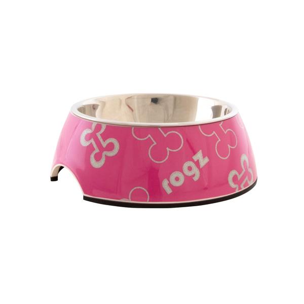 Rogz Melamine Trendy posuda za pse, pink, sa koskama