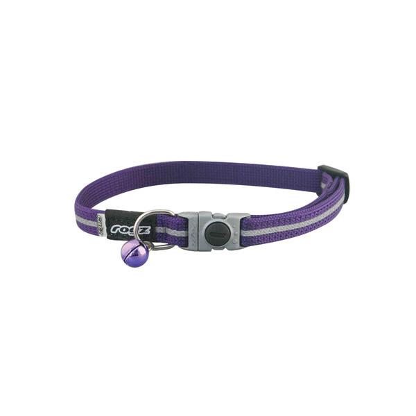 Rogz Safelock Buckle Collar Purple, ljubičasta ogrlica za mačke