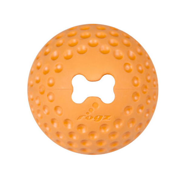 Rogz Loptica za pse, guma, narandzasta